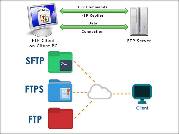 FTP, FTPS, SFTP